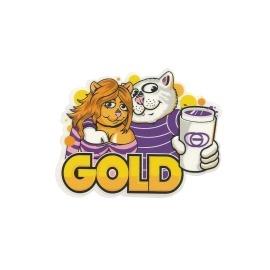 Adesivo Gold Three Cups- (11cm x 8,5cm)