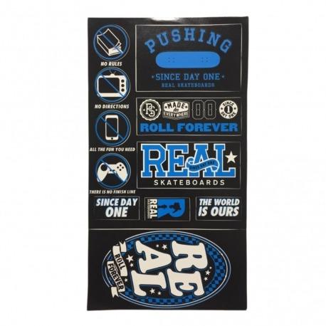 Cartela de adesivos Real Blue - (28,5cm x 15,5 cm)