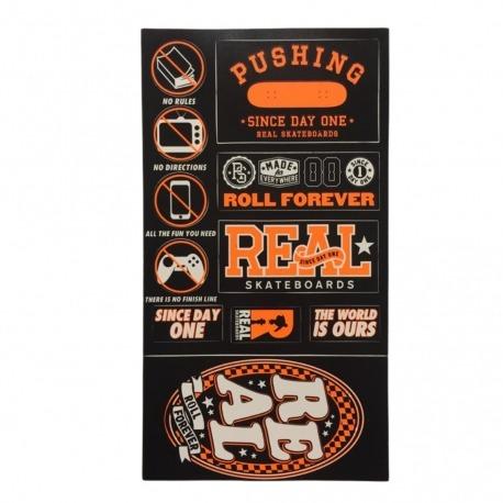 Cartela de Adesivos Real Orange - (28,5cm x 15,5 cm)