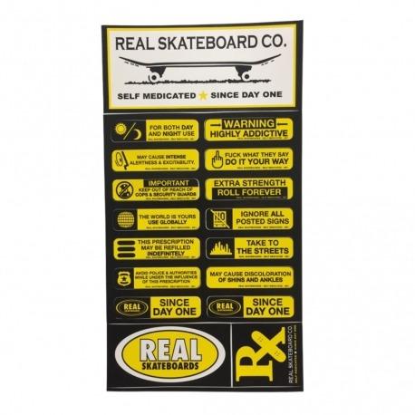 Cartela de Adesivos Real Yellow - (29,5cm x 16 cm)