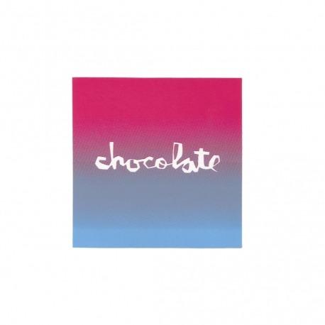 Adesivo Chocolate Faded Square Pink/Blue - (7,5cm x 7,5 cm)