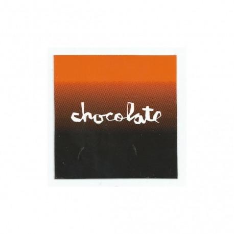 Adesivo Chocolate Faded Square Orange/Black - (7,5cm x 7,5 cm)