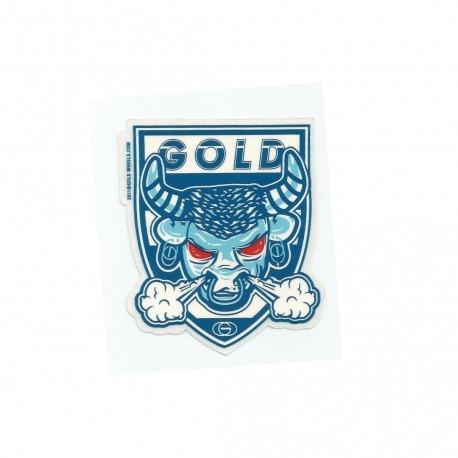 Adesivo Gold Bull Blue - (8cm x 6,7cm)