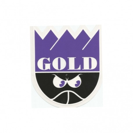 Adesivo Gold Crown Purple/Black - (11cm x 10cm)