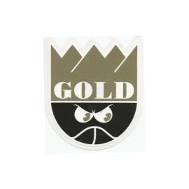 Adesivo Gold Crown Gold/Black - (11cm x 10cm)