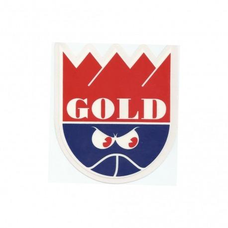 Adesivo Gold Crown Red/Blue - (11cm x 10cm)