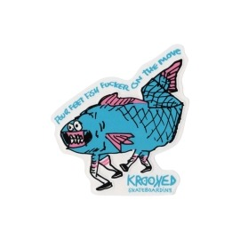 Adesivo Krooked Four Feet Fish Blue - (12,5cm x12cm)
