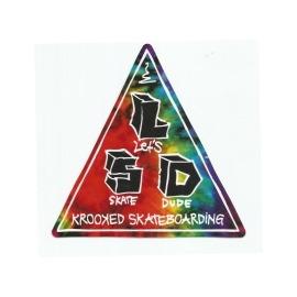 Adesivo Krooked LSD - (12,5cm x 12,5cm)