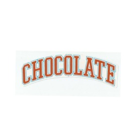 Adesivo Chocolate League Orange - (4,5cm x 19,5 cm)