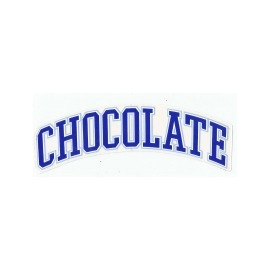 Adesivo Chocolate League Blue - (4,5cm x 19,5 cm)
