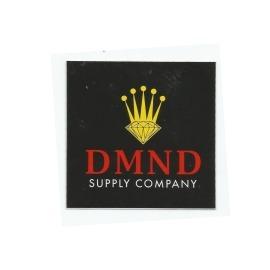 Adesivo Diamond Crown Black/Yellow - (7,5cm x 7,5cm)