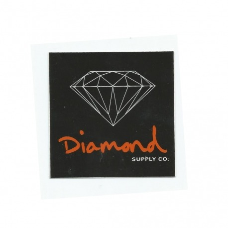 Adesivo Diamond OG Sign Black/Orange - (7,5cm x 7,5cm)