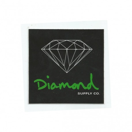 Adesivo Diamond OG Sign Black/Green - (7,5cm x 7,5cm)