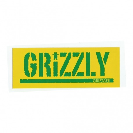 Adesivo Grizzly Stamp Yellow/Green - (7,5cm x 20cm)