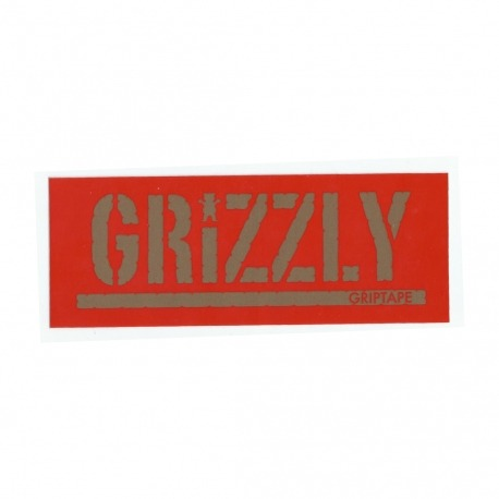 Adesivo Grizzly Stamp Red/Gold - (7,5cm x 20cm)