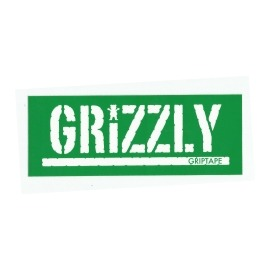 Adesivo Grizzly Stamp Green/White - (7,5cm x 20cm)