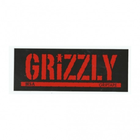 Adesivo Grizzly Stamp MSA - (7,5cm x 20cm)