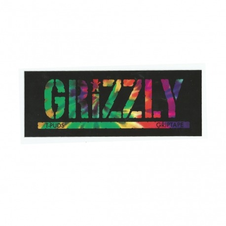 Adesivo Grizzly Stamp T-Puds Tie Dye - (7,5cm x 20cm)