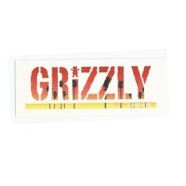 Adesivo Grizzly Stamp Palms Red - (7,5cm x 20cm)