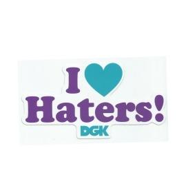 Adesivo DGK I Love Haters Green/Purple - (9cm x 16cm)