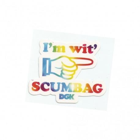 Adesivo DGK I'm wit' Scumbag - (6cm x 7,5cm)