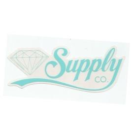 Adesivo Diamond Supply Co. Script Green - (6,5cm x 18cm)