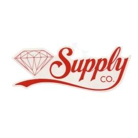 Adesivo Diamond Supply Co. Script Red - (6,5cm x 18cm)