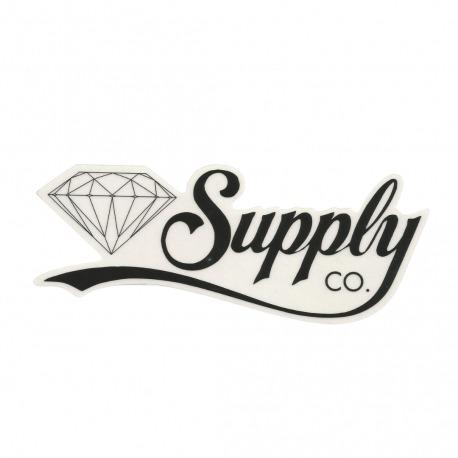 Adesivo Diamond Supply Co. Script Black - (6,5cm x 18cm)