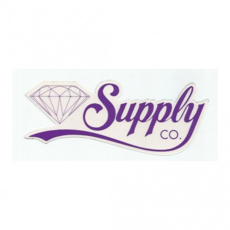 Adesivo Diamond Supply Co. Script Purple - (6,5cm x 18cm)