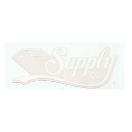 Adesivo Diamond Supply Co. Script White - (6,5cm x 18cm)