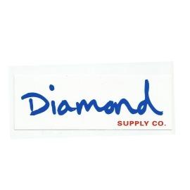 Adesivo Diamond OG Script White/Blue - (7cm x 20cm)