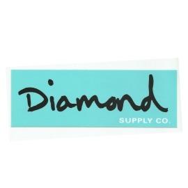 Adesivo Diamond OG Script Teal/Black - (7cm x 20cm)