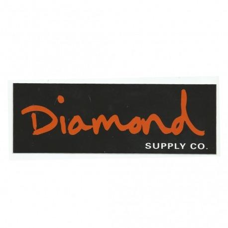 Adesivo Diamond OG Script Black/Orange - (7cm x 20cm)