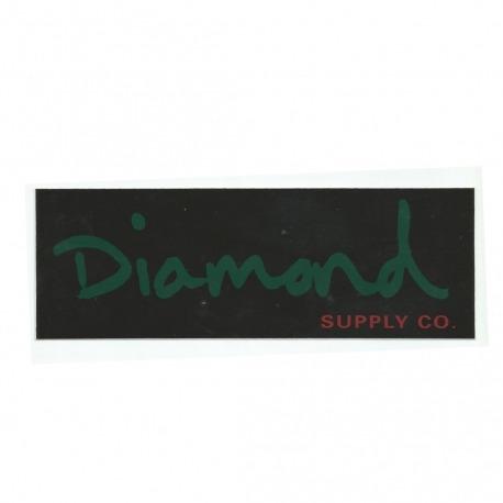 Adesivo Diamond OG Script Black/Green - (7cm x 20cm)