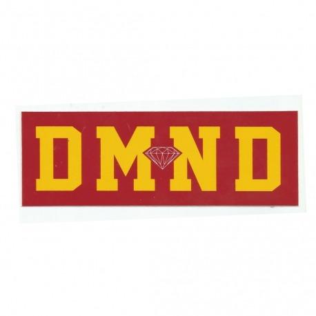 Adesivo Diamond DMND Red/Yellow - (7cm x 20cm)