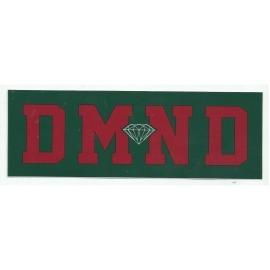 Adesivo Diamond DMND Green/Burgundy - (7cm x 20cm)