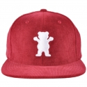 Boné Grizzly OG Bear Corduroy Snapback - Vinho