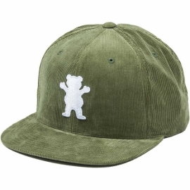 Boné Grizzly OG Bear Corduroy Snapback - Verde