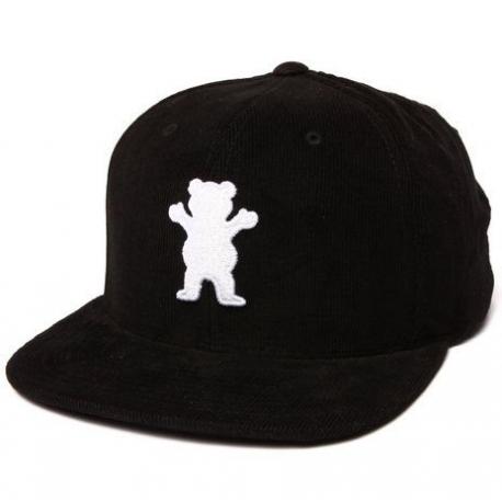Boné Grizzly OG Bear Corduroy Snapback - Preto