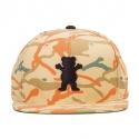 Boné Grizzly OG Bear Branch Camo Snapback - Amarelo