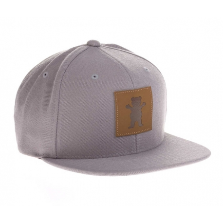 Boné Grizzly Embossed Snapback - Cinza