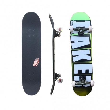 Skate Montado Baker Brand Logo Foil Green
