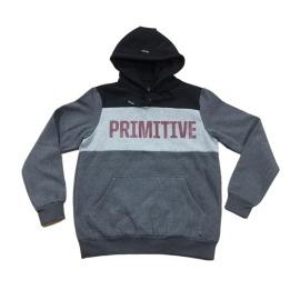 Moletom Primitive Canguru Side Line - Cinza/Preto