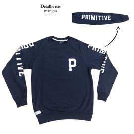 Moletom Primitive Careca P Logo -  Azul