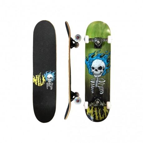 Skate Montado Milk x Ratones Burning Skull  c/ Truck Royal
