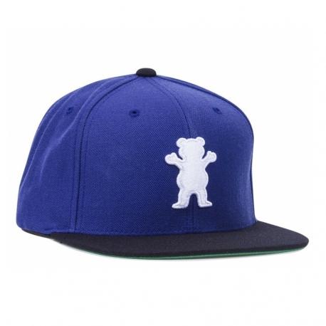 Boné Grizzly OG Bear Snapback - Preto/Azul