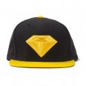 Boné Diamond Emblem Snapback - Preto/Amarelo