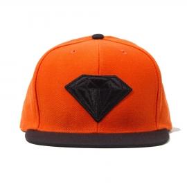 Boné Diamond Emblem Snapback - Laranja/Preto