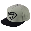 Boné Diamond Rock Logo Snapback - Cinza