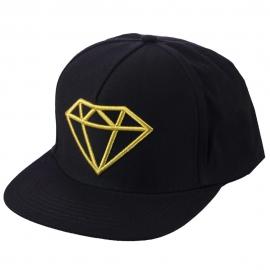 Boné Diamond Rock Logo Snapback - Preto/Dourado